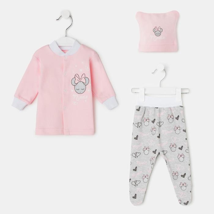 Комплект детский, цвет розовый, рост 74 см - фото 76569813