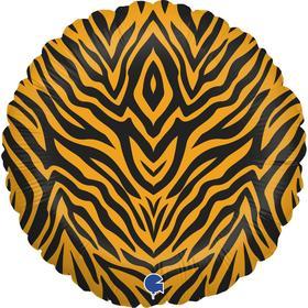 """Шар фольгированный 18"""" «Анималистика», пятнистый окрас, тигр, круг"""