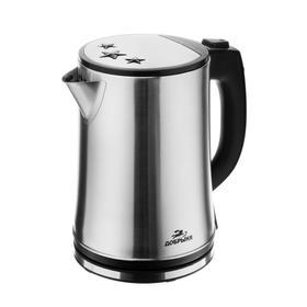 """Чайник электрический """"Добрыня"""" DO-1240B, металл, 2.5 л, 2200 Вт, серебристо-чёрный"""