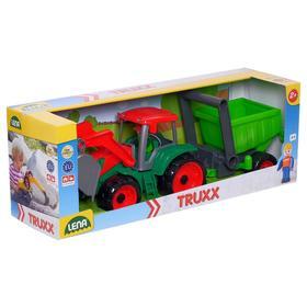 Трактор с прицепом. 34 см, МИКС