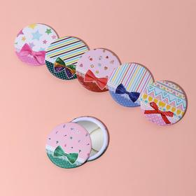 """Mirror compact """"Bow"""", single sided, no magnification, MIX color"""