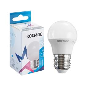 "Лампа светодиодная ""КОСМОС"" Basic, GL45, 6.5 Вт, Е27, 4500 К, 220 В"