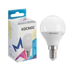 "Лампа светодиодная ""КОСМОС"" Basic, GL45, 7.5 Вт, Е14, 3000 К, 230 В"