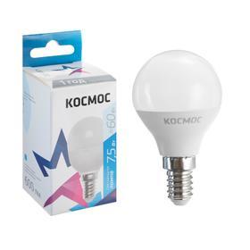 "Лампа светодиодная ""КОСМОС"" Basic, GL45, 7.5 Вт, Е14, 4500 К, 230 В"