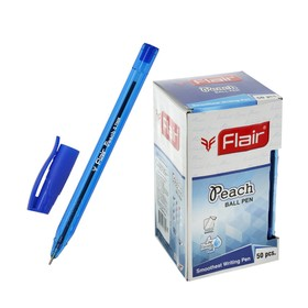 Ручка шариковая Flair PEACH TRENDZ, узел 1.0мм, трехгран корпус, синяя F-1150-T/син