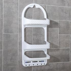 Полка навесная для ванной комнаты Милих, цвет МИКС