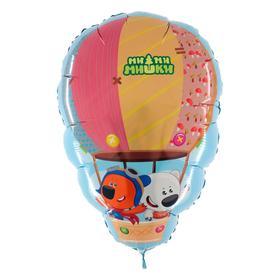 """Шар фольгированный 28"""" «Ми-ми-мишки на воздушном шаре», фигура"""