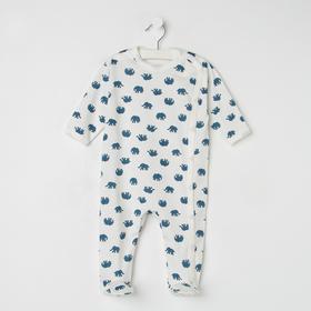 Комбинезон детский, цвет синий, рост 68 см