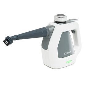 Пароочиститель Kitfort КТ-918-2, 1000 Вт, 220 мл, нагрев 2–3 мин, бело-серый