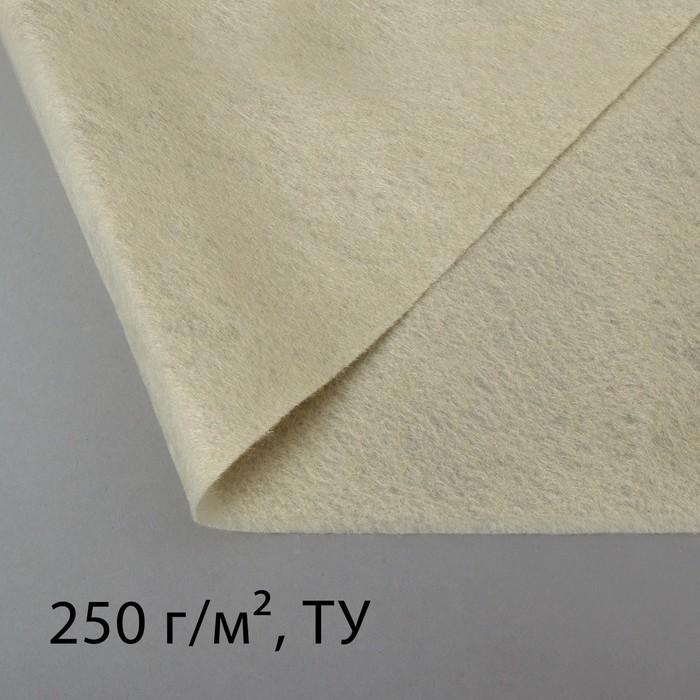 Полотно нетканое, иглопробивное, 1,5 × 2 м, плотность 250 г/м²