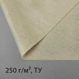 Полотно нетканое, иглопробивное, 2 × 2 м, плотность 250 г/м²