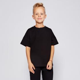 Футболка детская MINAKU:Basic line kids цвет чёрный, рост 92