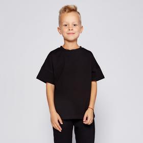 Футболка детская MINAKU:Basic line kids цвет чёрный, рост 122
