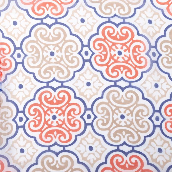 Ткань тюлевая «Дамаск» синий, ширина 280 см, длина 128,7 м