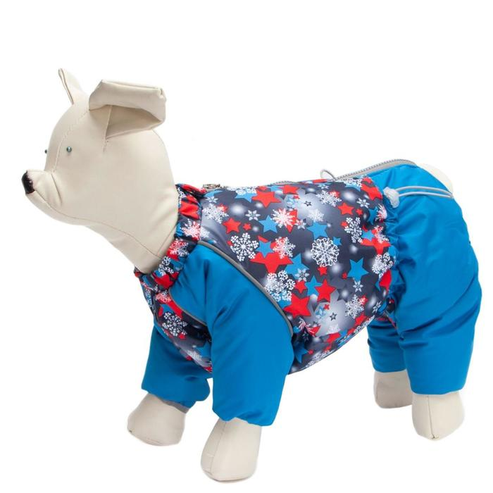 "Комбинезон Osso ""Снежинка"" для собак, кобель, размер 35 (ДС 35, ОШ 40, ОГ 56), синий"