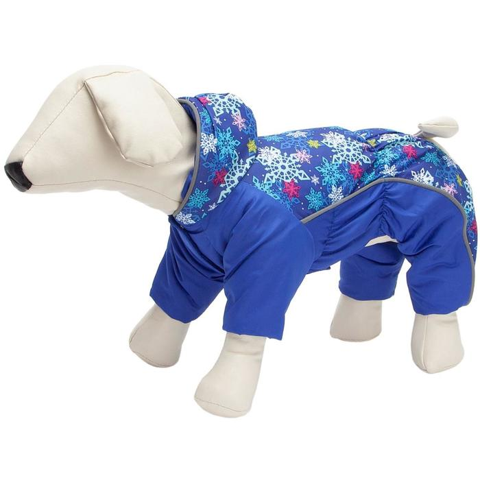 Комбинезон Osso для собак на синтепоне, кобель, р. 35 (ДС 35, ОШ 35, ОГ 46-56), синий