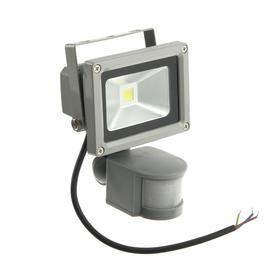 Прожектор светодиодный с датчиком движения, 10 Вт, 6500 К, 800-900 Лм, IP65
