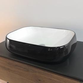 Раковина COMFORTY 78102BW, накладная, цвет чёрный, белый