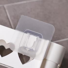 Держатель для ванных принадлежностей на липучке «Сердца», 26×10,5×6,7 см, цвет МИКС - фото 4650958