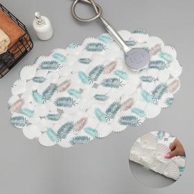 Коврик для ванны Доляна «Романтика», 35×65 см, ракушка
