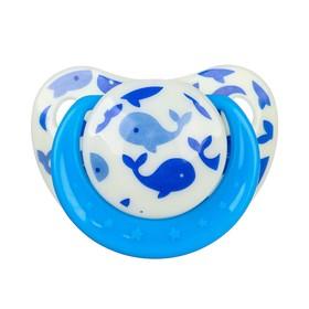 Соска-пустышка ортодонтическая, силикон, от 3 мес., «Кит», цвет голубой
