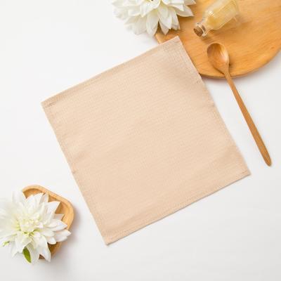 Waffle towel Dolyana 30*30± 3 cm, color beige, 100% cotton, 150 gr / m2