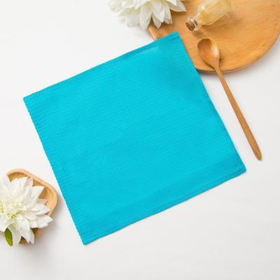 Waffle towel Dolyana 30*30± 3 cm, color. emerald, 100% cotton, 150 gr / m2