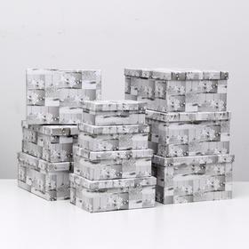 """Набор коробок 10 в 1 """"Снежинка"""", 37,5 х 29 х 16 - 19 х 13 х 7,5 см"""