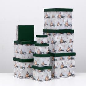 """Набор коробок 10 в 1 """"Лампа"""", 26,5 х 26,5 - 8,5 х 8,5 см"""