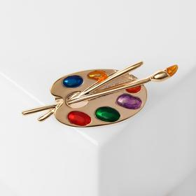 Artist's Palette brooch, colored in gold