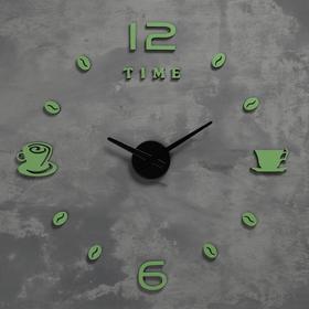 Часы-наклейка светящиеся, стрелки 22,5см, 16.5 см, 1АА, плавный ход