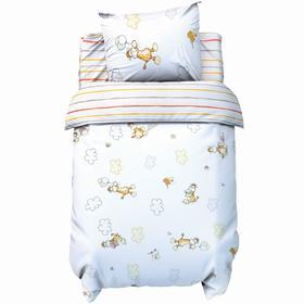 Постельное бельё Крошка Я бейби «Весёлые жирафы» 147х112 см, 60х120 + 20 см, 40х60 см