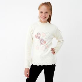 Джемпер для девочки, цвет белый, рост 164 см