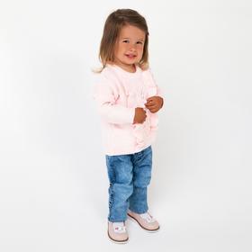 Джемпер для девочки, цвет розовый, рост 68 см