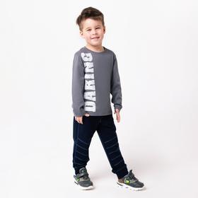 Лонгслив для мальчика, цвет серый, рост 110 см