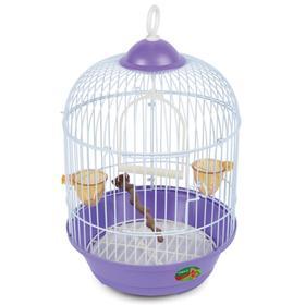 Клетка Triol для птиц круглая, эмаль, 23 х 37,5 см, микс цветов