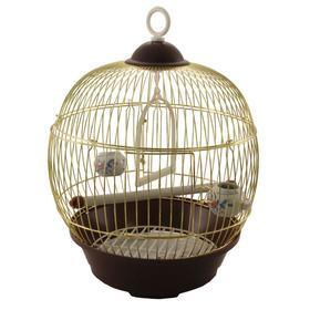 Клетка Triol для птиц круглая, 23 х 36,5 см, золото