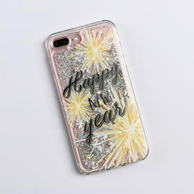 Чехол - шейкер для телефона iPhone 7,8 plus «Счастливого года», 7,7 х 15,8 см - фото 72201