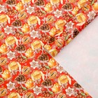 """Glossy packaging paper """"Tangerines and cones"""", 50 x 70 cm"""