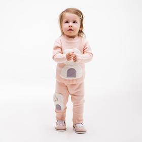 Комплект для девочки (джемпер, брюки), цвет персиковый, рост 104 см
