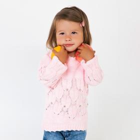 Джемпер для девочки, цвет розовый, рост 80 см