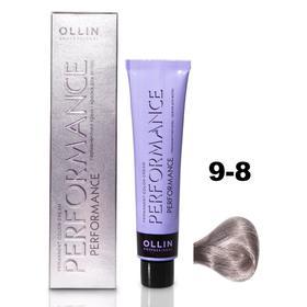 Крем-краска для окрашивания волос Ollin Professional Performance, тон 9/8 блондин жемчужный, 60 мл