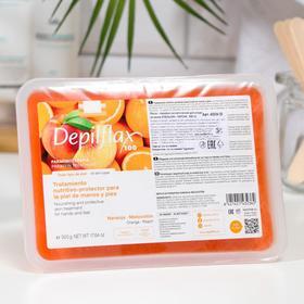Парафин косметический для ухода за кожей Depilflax100, апельсин-персик, 500 г
