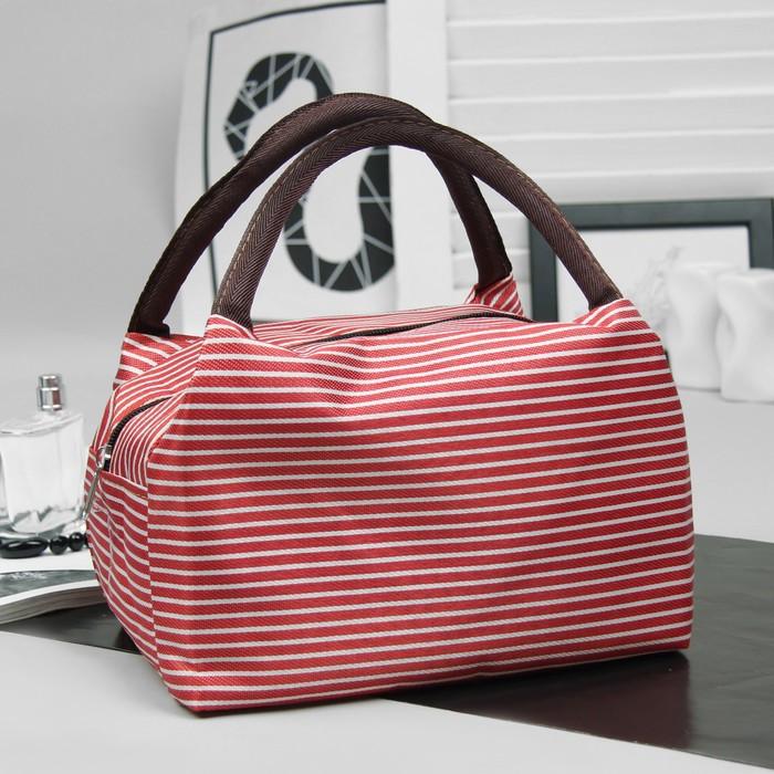 """Косметичка-сумочка на молнии """"Морячка"""", 2 ручки, 1 отдел, цвет красный"""