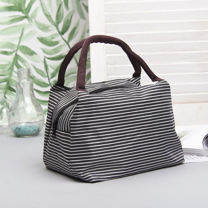 """Косметичка-сумочка на молнии """"Морячка"""", 2 ручки, 1 отдел, цвет чёрный"""