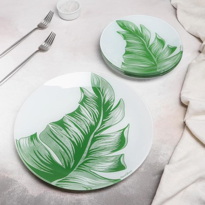 Набор тарелок «Лист», 7 предметов, в подарочной упаковке - фото 721509