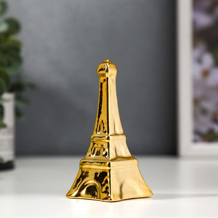 "Сувенир керамика ""Эйфелева башня"" золото 9,5х4х4 см"
