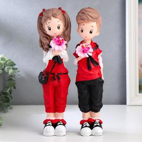 "Souvenir polystone ""Teenager in a red dress"" MIX 28x7, 3x5, 5 cm"