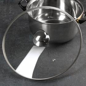 {{photo.Alt || photo.Description || 'Крышка для сковороды и кастрюли стеклянная, d=32 см, с металлическим ободом, с круглой ручкой'}}