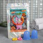 Набор: резинки 2 шт. и антицеллюлитный массажёр «От мандаринок нет следа», вакуумные банки, 5,5 х 6 см - фото 496490